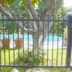 Colonial pool fence