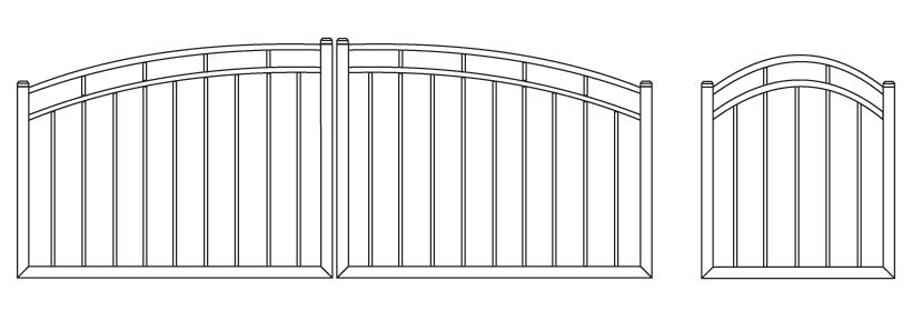 Driveway Gate DG-14 Pedestrian Gate PG-14