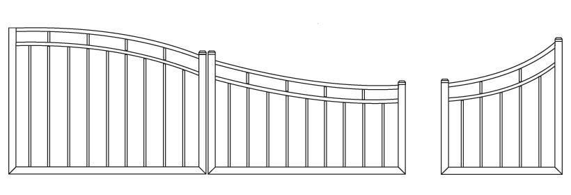 Driveway Gate DG-15 Pedestrian Gate PG-15