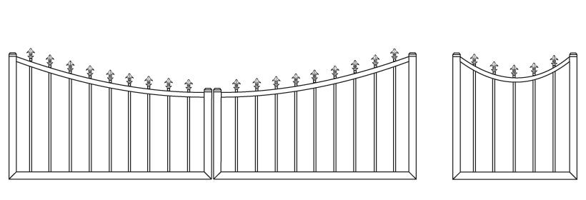 Driveway Gate DG-18 Pedestrian Gate PG-18