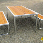 Table set Alloy wood inlay (2)